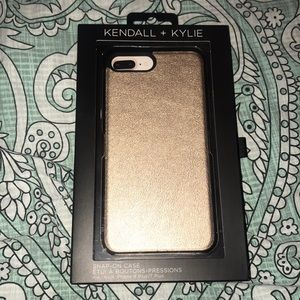 NWT gold snapon iPhone 6plus 7plus 8plus case